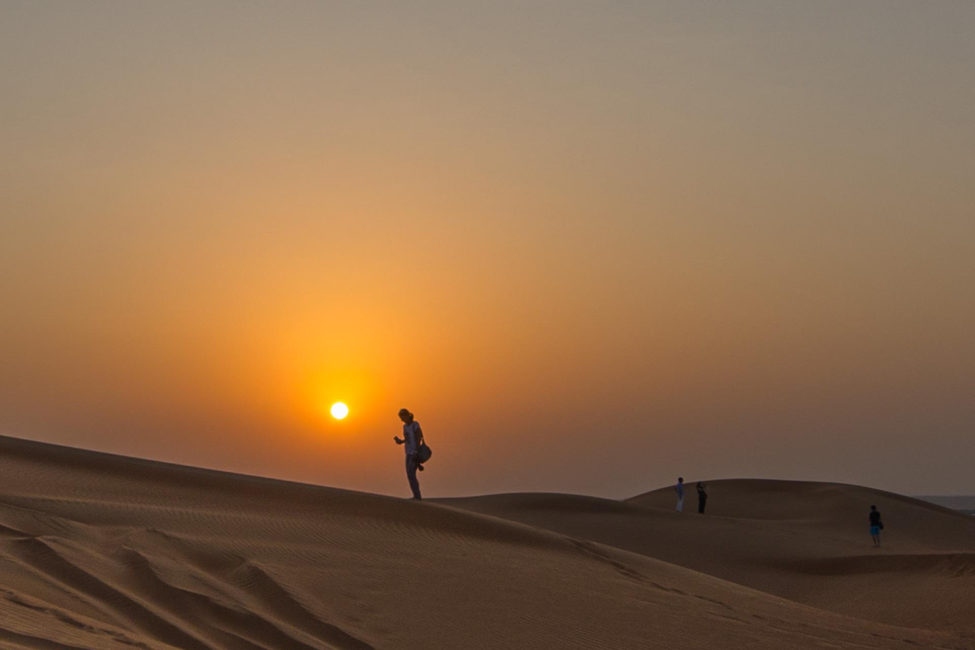 Dubai západ slunce
